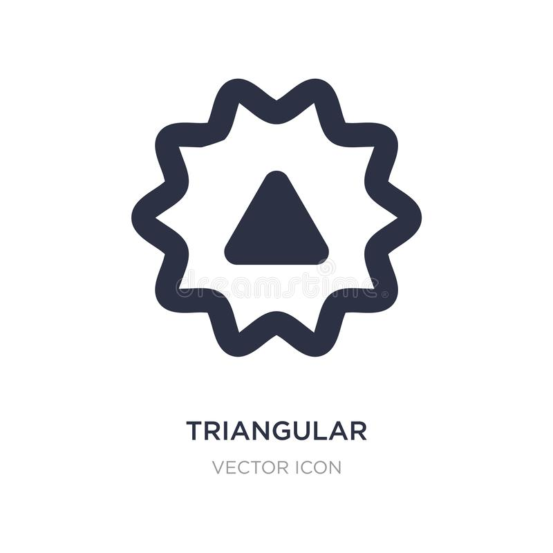 triangular icon on white background. Simple element illustration from UI concept vector illustration