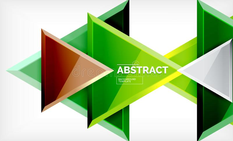 Triangular low poly background design, multicolored triangles vector illustration