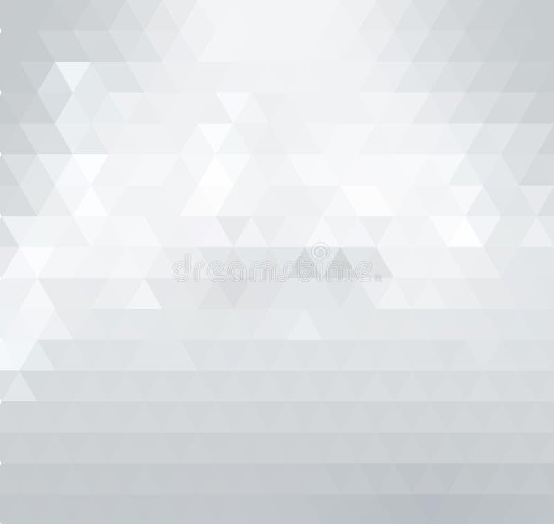 Triangular low poly, light grey, silver, mosaic pattern background. royalty free illustration