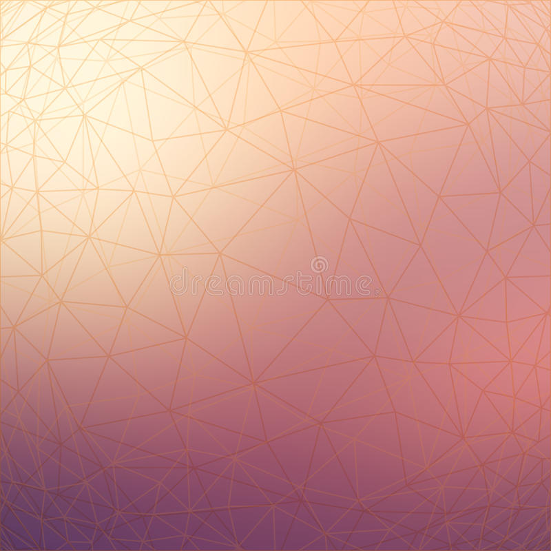 Triangular low poly style geometric network pattern on blurred background vector illustration