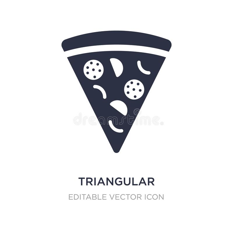 triangular pizza slice icon on white background. Simple element illustration from Food concept vector illustration