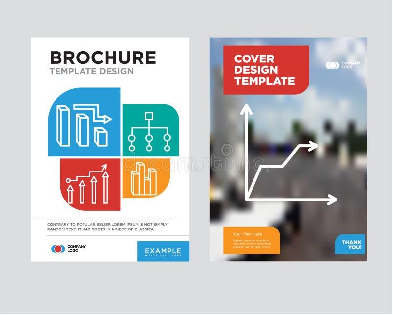Triangular Pyramid Brochure Flyer Design Template Stock Illustration