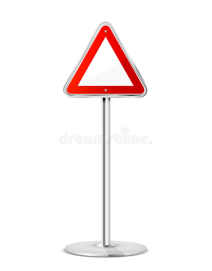 Triangular road sign vector illustration