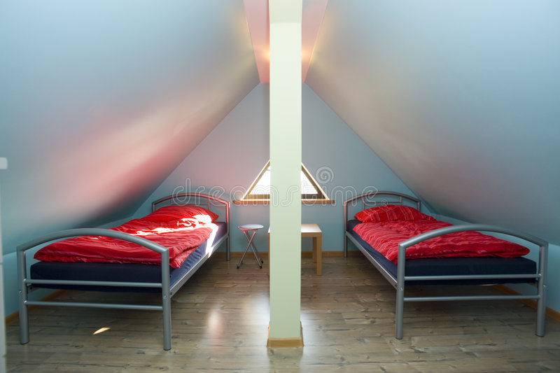 Download Triangular room with beds stock image. Image of tidy, structure - 3239271