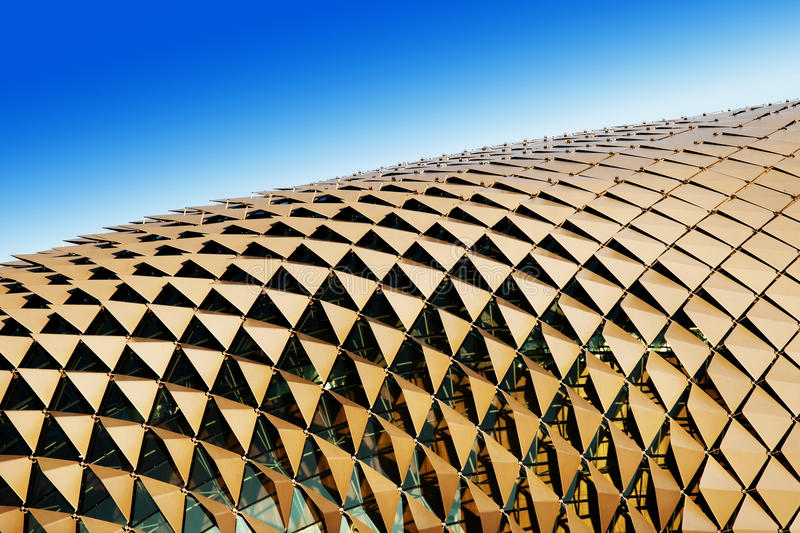 Triangular shades on roof stock photography