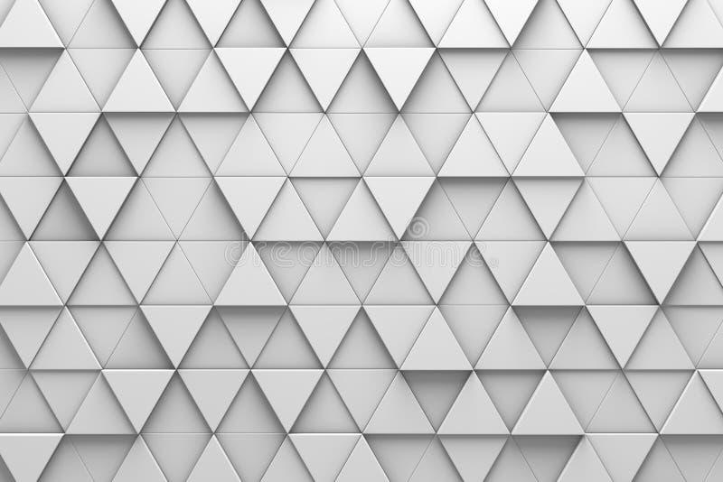 Triangular Tiles 3d Pattern Wall Stock Illustration