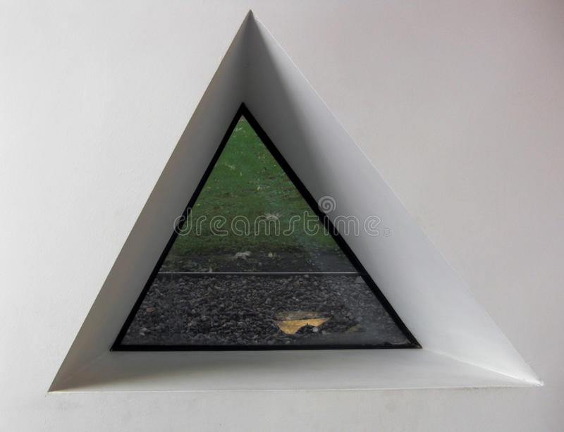 Download Triangular window stock image. Image of view, pebble - 23447637