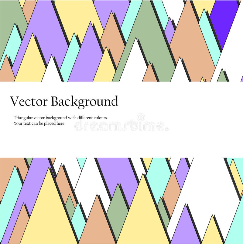 Download Triangulars Bedrijfsbrochure Vector Illustratie - Illustratie bestaande uit collectief, helder: 54076093