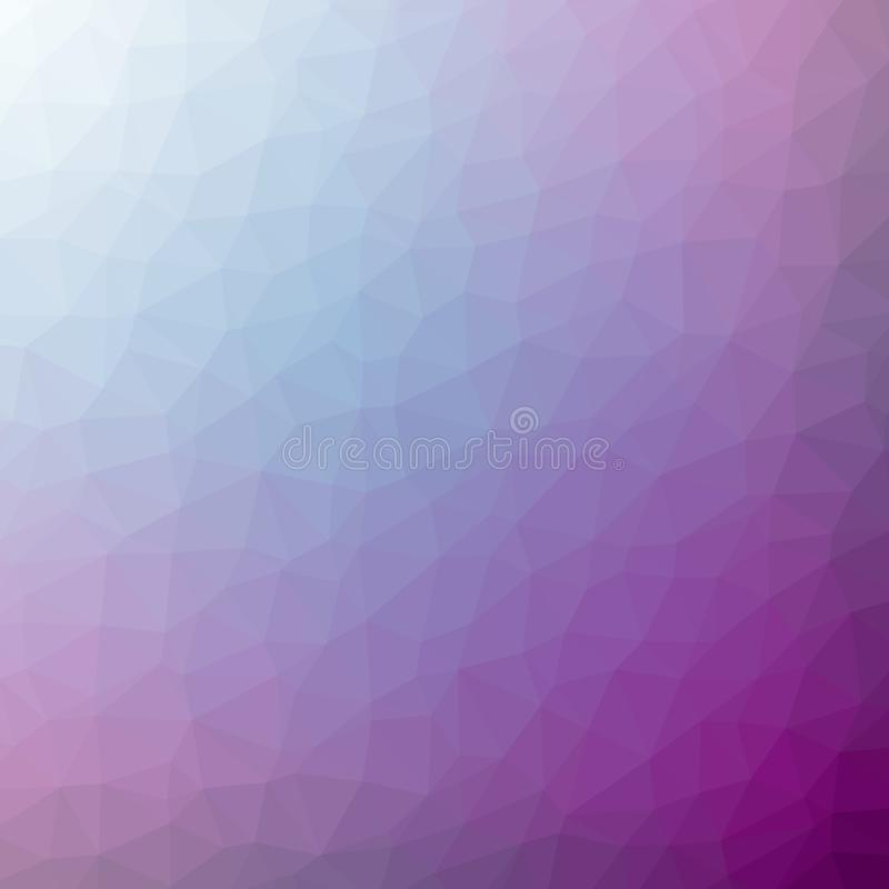 Triangulated purple blue gradient background image. For web and print stock photography