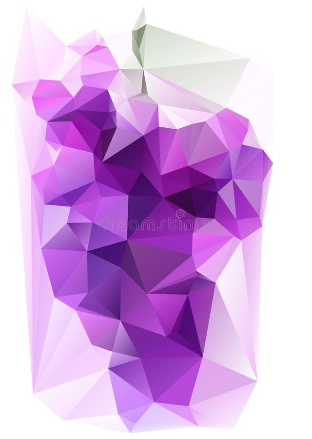 Triangulated Purpurowy winogrono ilustracja wektor