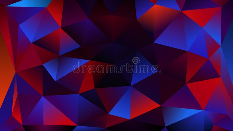 Triangulation shapes - triangles mosaic lights with shiny sparkles, 3d render background, computer generated. Triangulation shapes - triangles mosaic lights with stock illustration