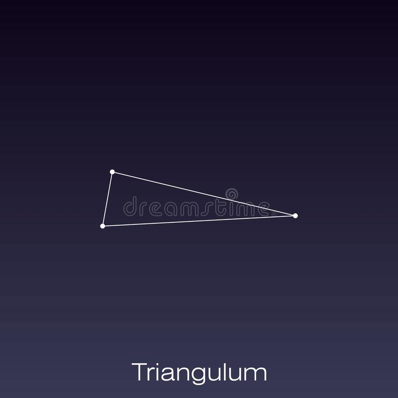 Constellation as it can be seen by the naked eye. Triangulum constellation as it can be seen by the naked eye stock illustration