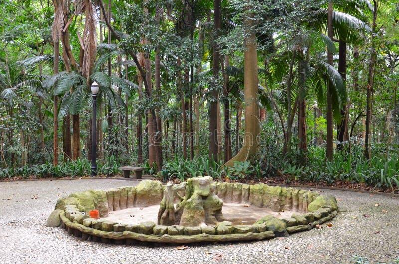 Trianon park na Paulista alei, Sao Paulo, Brazylia zdjęcie stock