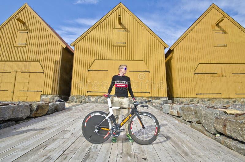 Triathlete stockfotos