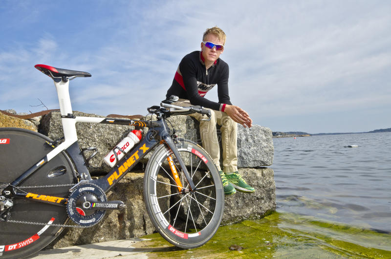Triathlete lizenzfreies stockbild