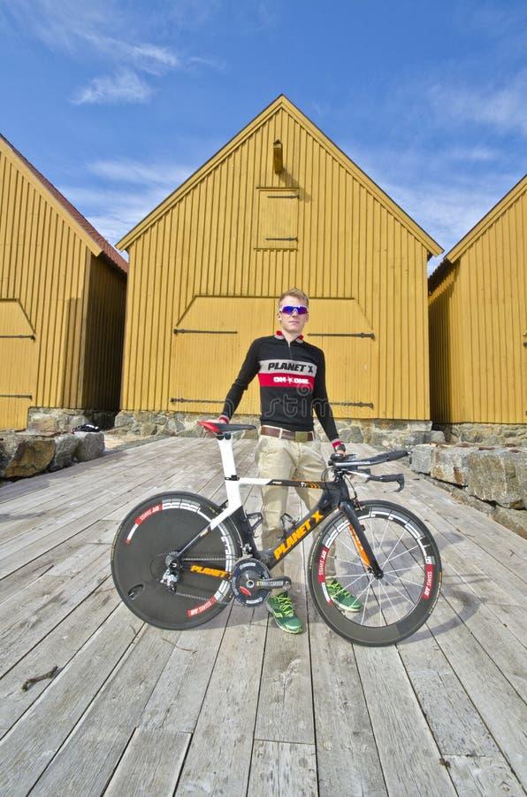 Triathlete stockfoto