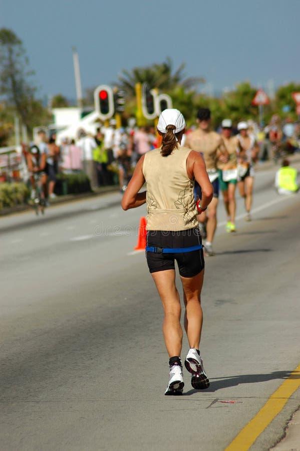 Triathlete femminile fotografia stock