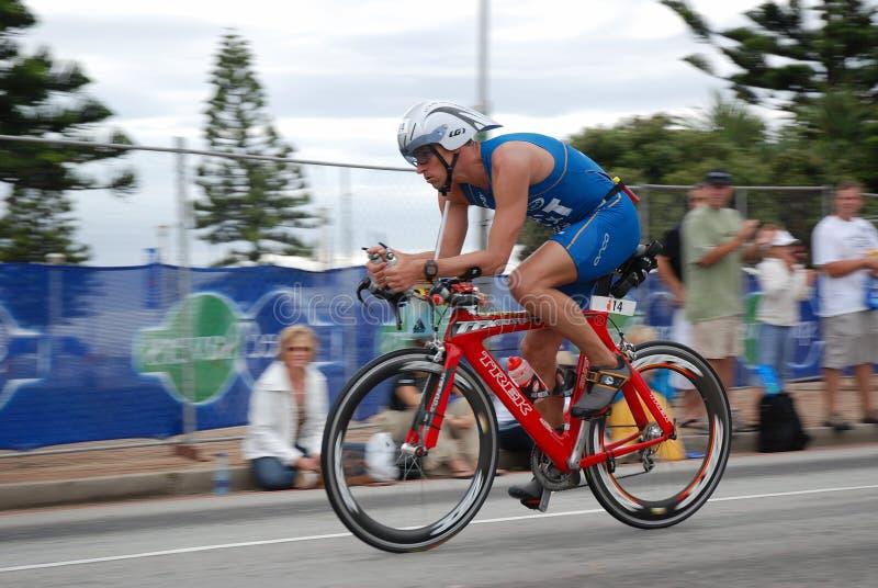 Triathlete Martin Matula de Ironman foto de archivo libre de regalías