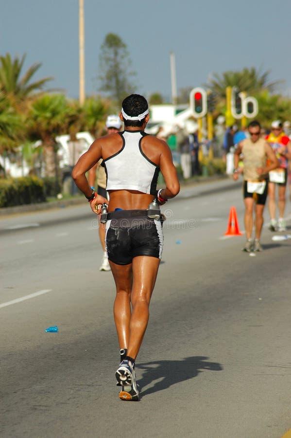 Triathlete masculino fotografia de stock royalty free