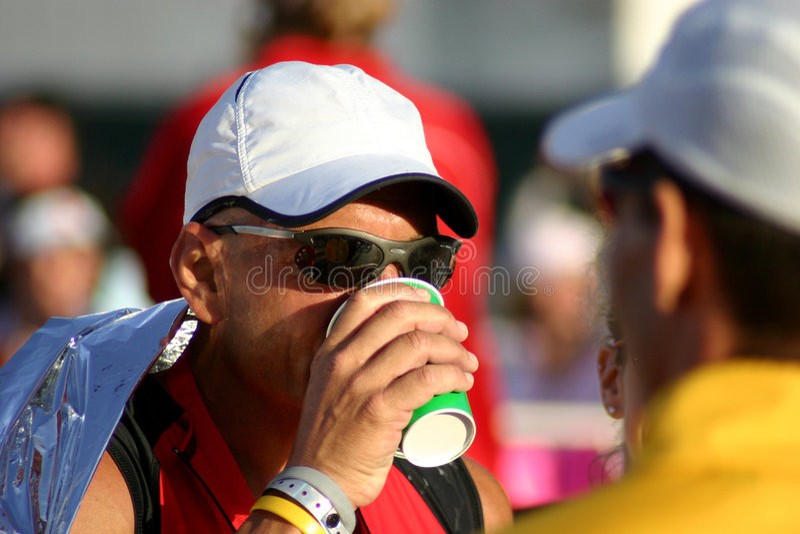 Triathlete o Arizona Ironman fotografia de stock royalty free