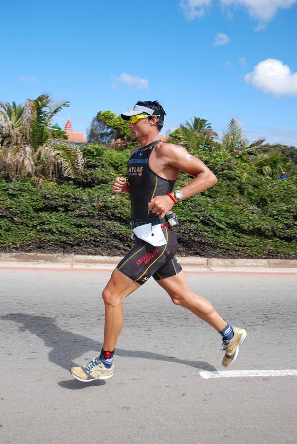 Triathlete Raynard Tissink d'Ironman photo stock