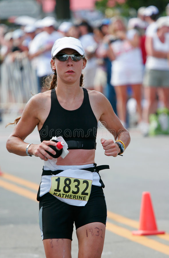 Triathlete Seitentrieb lizenzfreies stockfoto