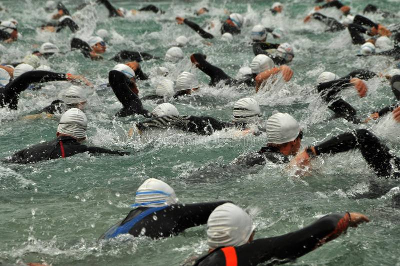 Download Triathletes stock image. Image of swimmer, swim, ironman - 15194011