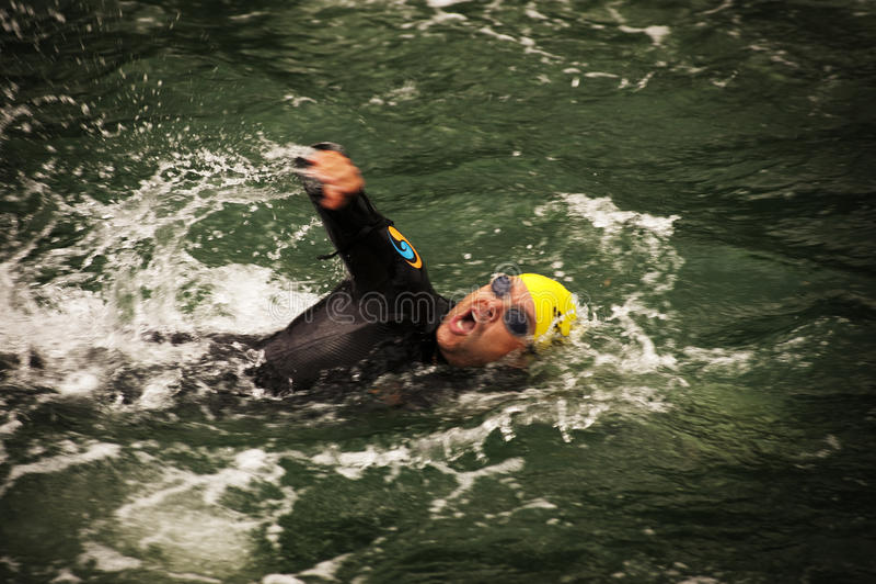 triathlon arkivbild