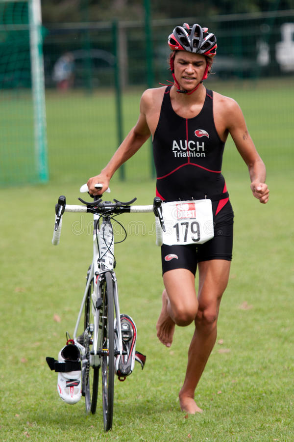 Triathlon stock foto