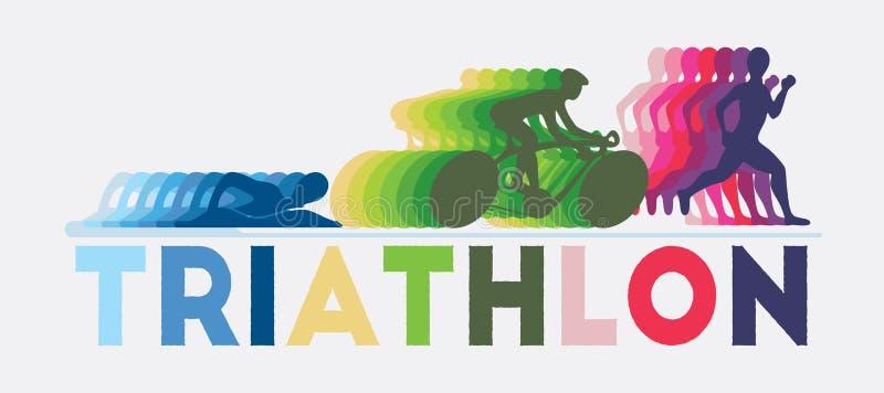 triathlon stock abbildung