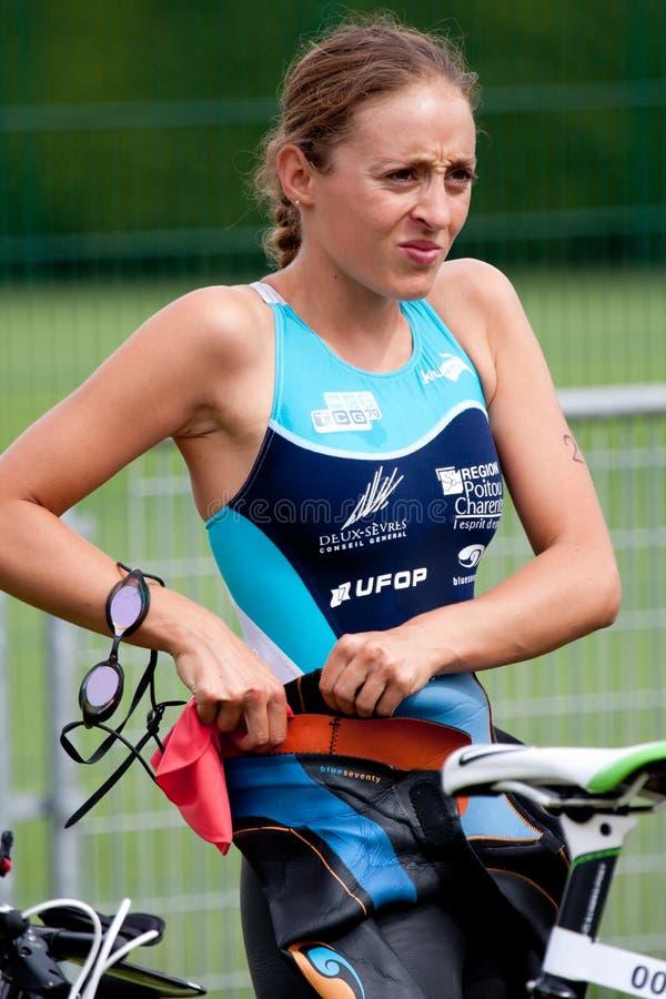 Triathlon d'Auch photos libres de droits
