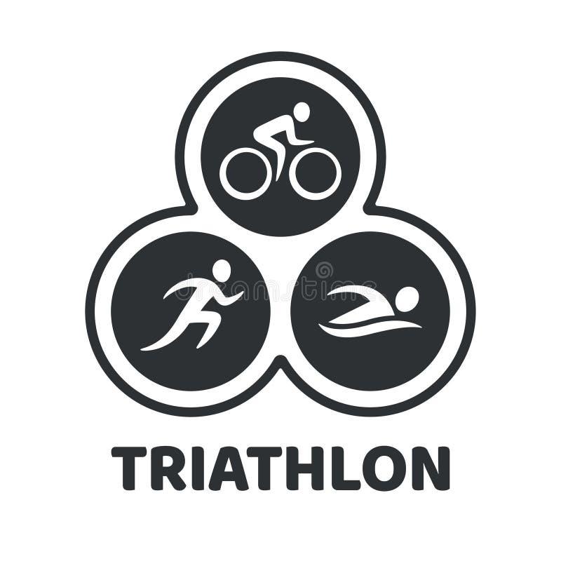 Triathlon event illustration stock illustration