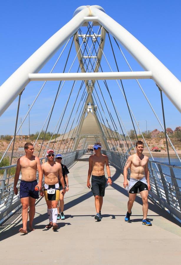 Triathlon: Färdigt arkivbilder