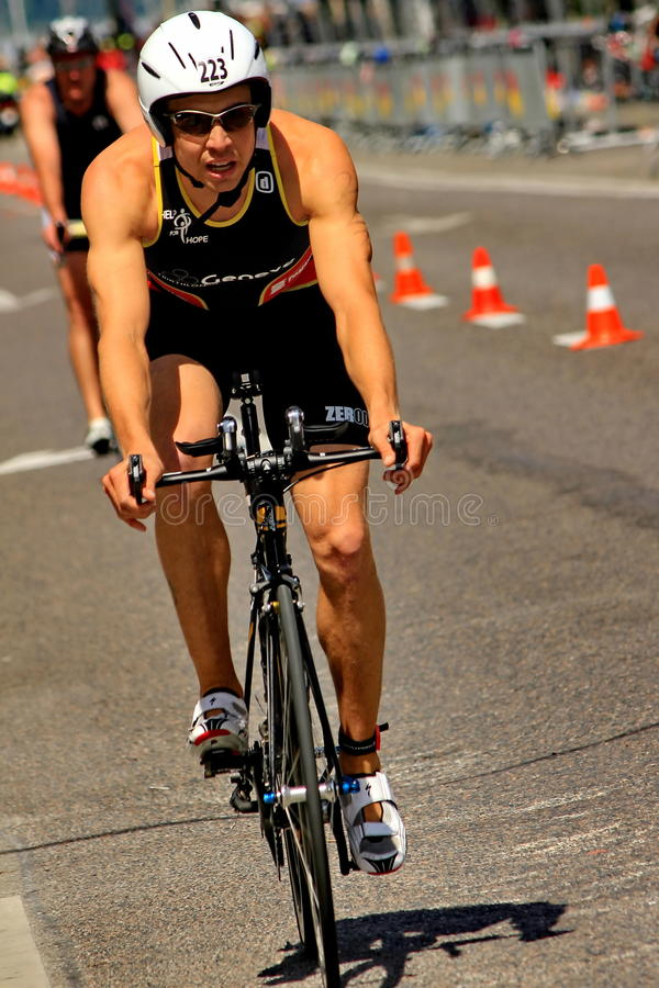 Triathlon Genebra, Switzerland foto de stock