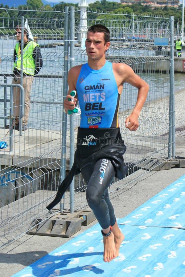 Triathlon internacional, Genebra, Switzerland fotografia de stock royalty free