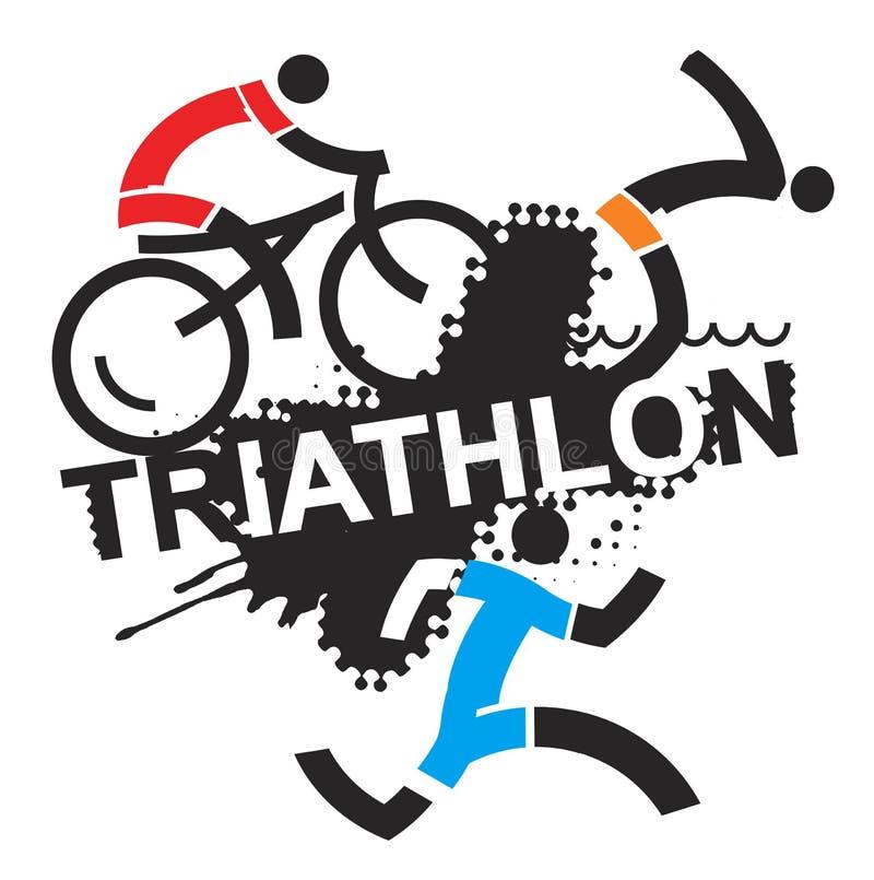 Triathlon race. vector illustration