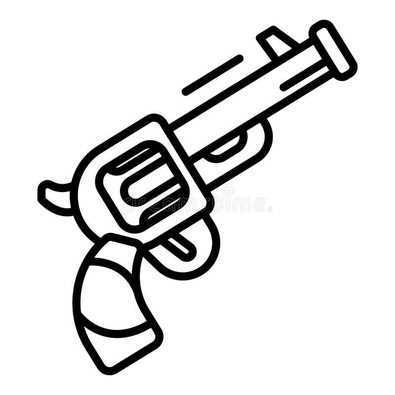 Triathlon revolver start signal icon, outline style. Triathlon revolver start signal icon. Outline triathlon revolver start signal vector icon for web design royalty free illustration