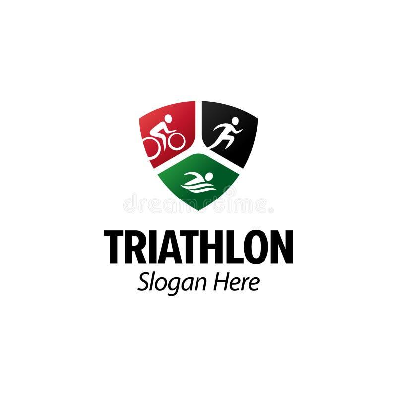 Triathlon running cycling swimming sport logo vector inspiration royalty free stock images