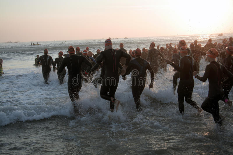 Download Triathlon start editorial stock image. Image of competitive - 30421469