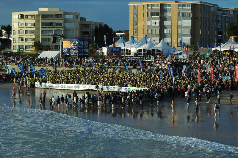 Triathlon Suráfrica de Ironman imagenes de archivo