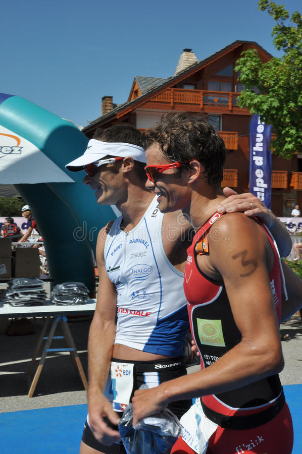 Download Triathlon, winners editorial stock photo. Image of champion - 10554068