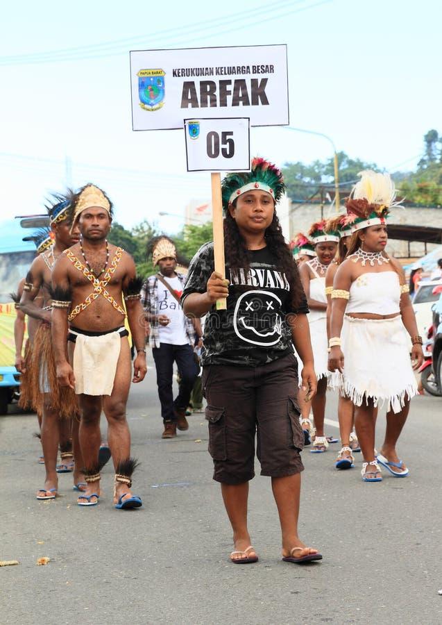 Tribù Arfak di Papuan immagini stock