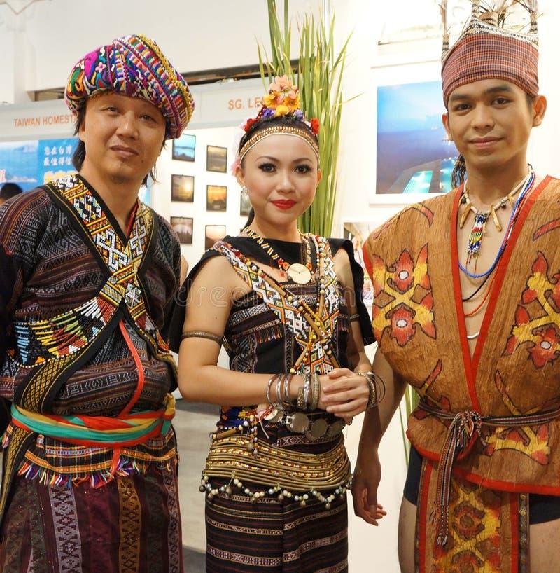Tribù del Borneo immagine stock libera da diritti