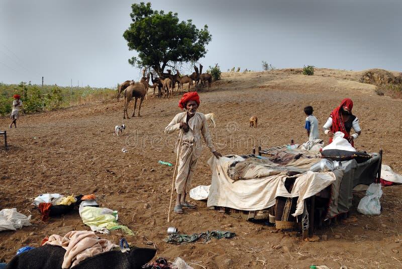 TRIBÙ DI BANJARA IN INDIA fotografia stock libera da diritti