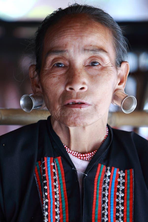 Tribù di Longneck, Tailandia fotografie stock