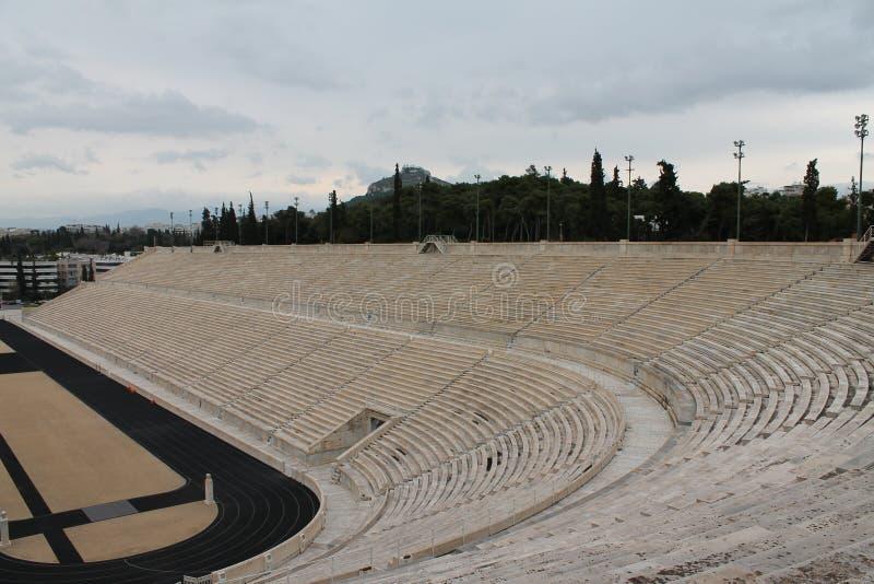 Tribünen von stadion in Athen lizenzfreie stockfotos