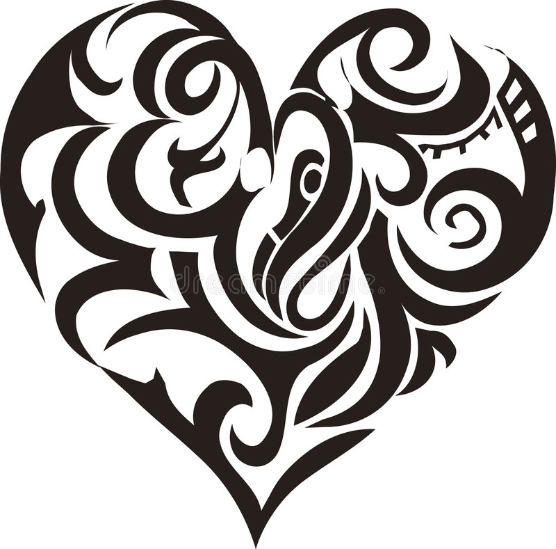 Tribal art heart