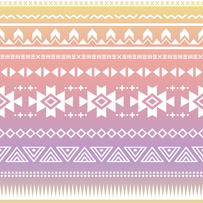 Tribal aztec ombre seamless pattern royalty free illustration