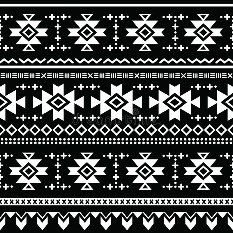tribal aztec seamless pattern  print stock illustration