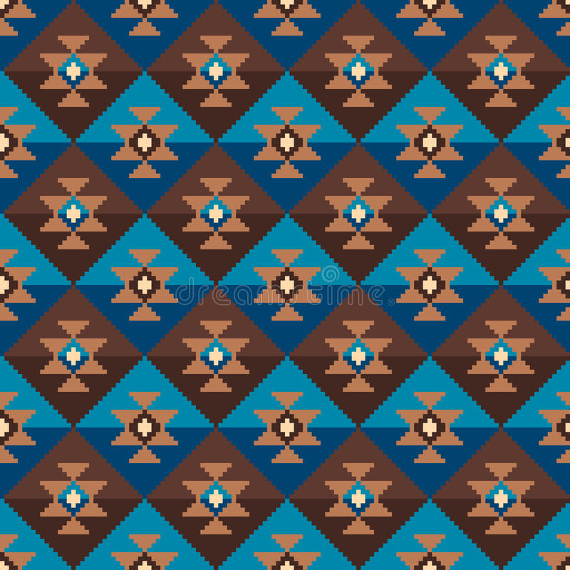 Tribal Aztec Style Seamless Geometric Pattern. Vector Illustration stock illustration